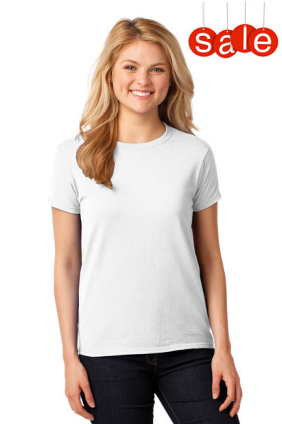 2cf7395b41ec Ladies Basic Cotton T-shirt - White | S5000Lw