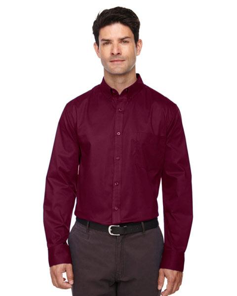 Maroon Long Sleeve Dress Shirt